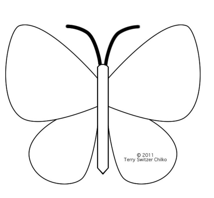 Best  Felt Butterfly Pattern Ideas On   Butterfly