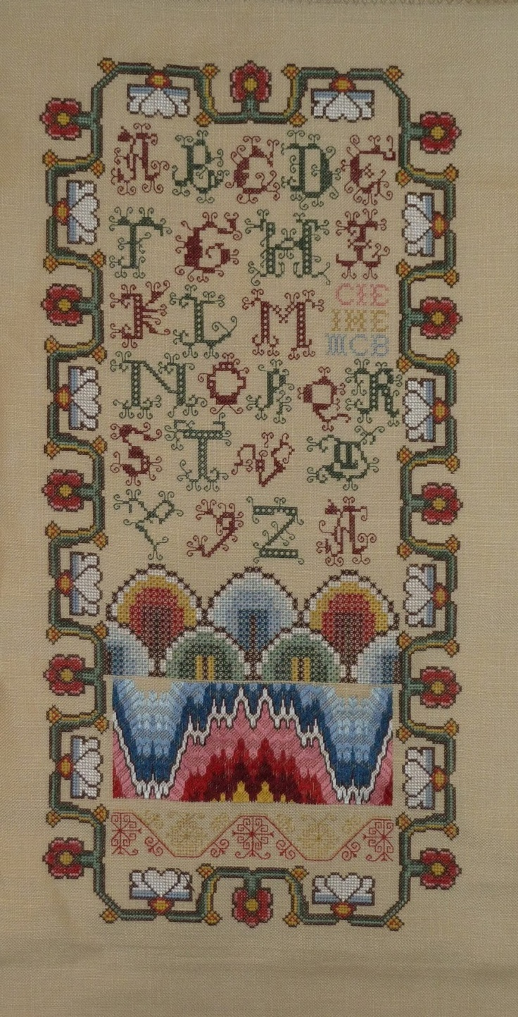 The Scottish Band Sampler from Scarlet Letter stitched by Kate