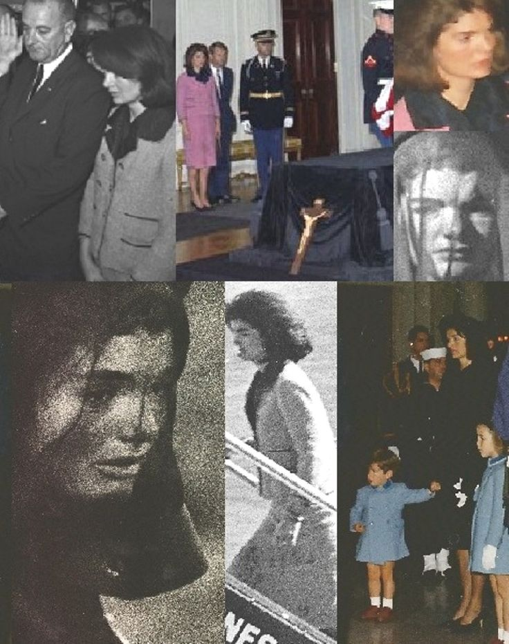 This photo essay traces those four days by keeping her as the central visual focus, from the coffin being transported from Parkland Hospital to Air Force One, his successor's swearing-in ceremony on the plane and its arrival at Andrews Air Force Base for transport to Bethesda Naval Hospital, the laying in state at the White House, memorial service at the U.S. Capitol Building, funeral at St. Matthew's Cathedral, and burial at Arlington National Cemetery.