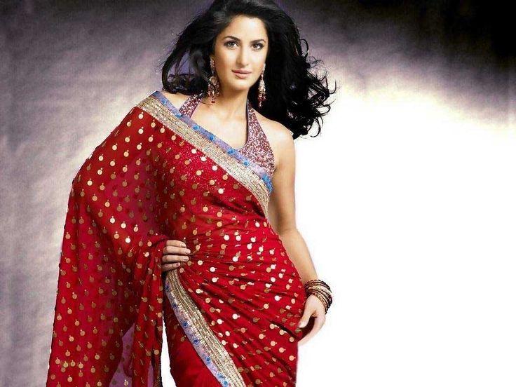 Sexy Saree Katrina Kaif Wallpapers