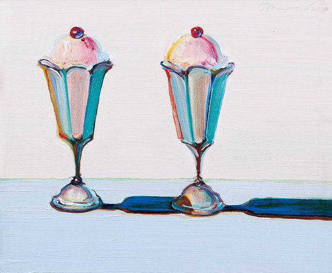 "Mr. Thiebaud's ""Tulip Sundaes""from 2010. Credit Collection of Wayne and Betty Jean Thiebaud, Wayne Thiebaud/Licensed by VAGA, New York, NY"