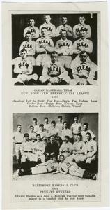 Olean baseball team, New York and Pennsylvania league; Baltimore baseball club, 1894 pennant winners - ID: 405497 - NYPL Digital Gallery