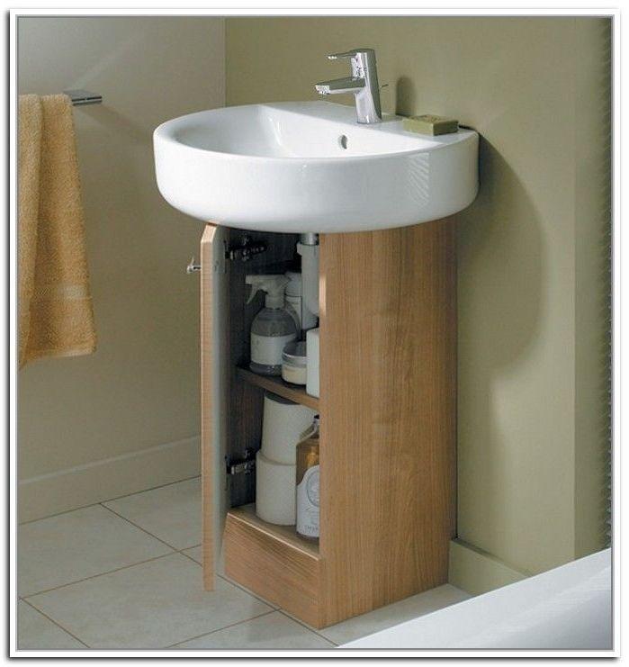 20 Clever Pedestal Sink Storage Design Ideas Com Imagens