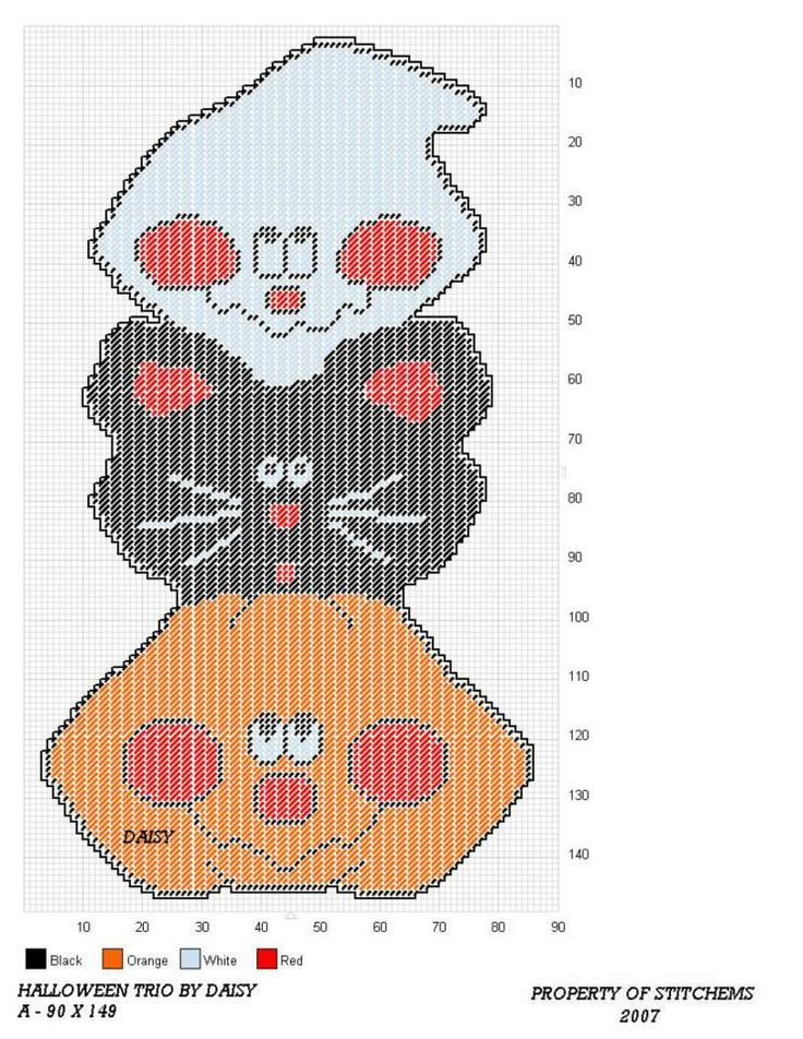 Everything Plastic Canvas - Plastic Canvas Bat Moon Wall Hanging - patterns for halloween decorations