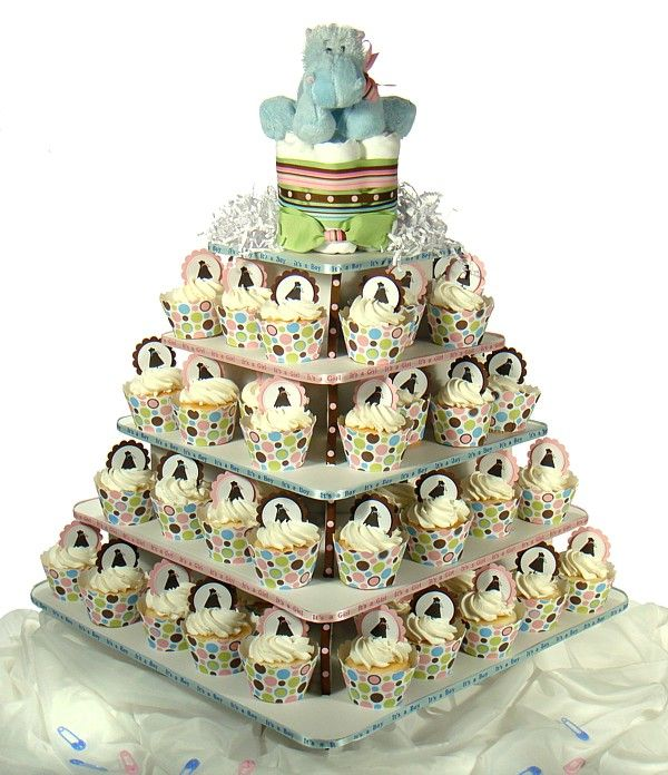 Baby Shower Cupcake Tower Ideas : 1000+ images about baby shower cupcake tower on Pinterest ...