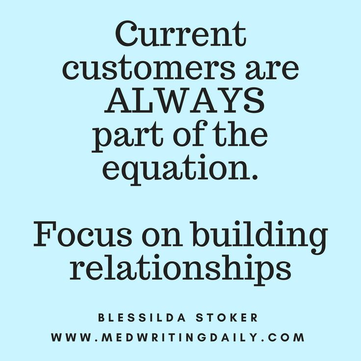Don't just focus on getting new prospects.  Current customers are ALWAYS part of the equation. Current customers drive big revenues than new ones. Getting new customers is MORE expensive than retaining new ones.   #healthcare #medical #marketing