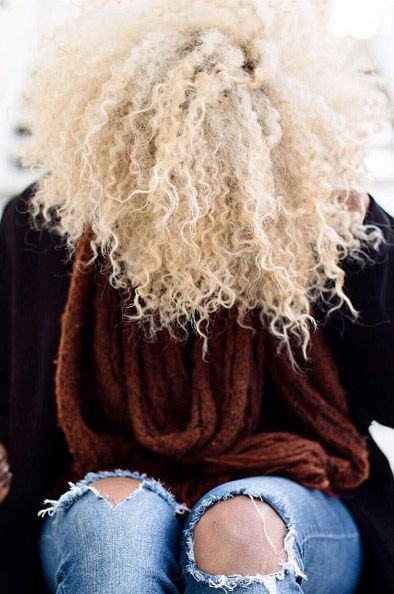 Platinum blonde curly afro - kassalaholdsclaw - Kassala Holdsclaw