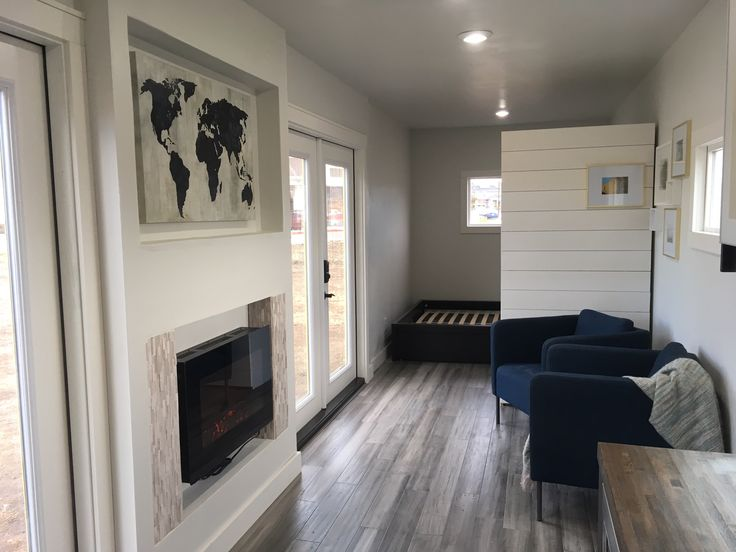 A 40′ container home in Longmont, Colorado.