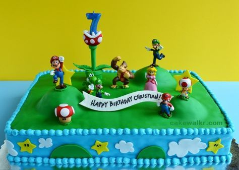 super mario cake i may do