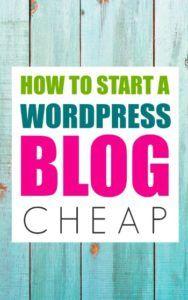 how-to-start-a-wordpress-blog-cheap