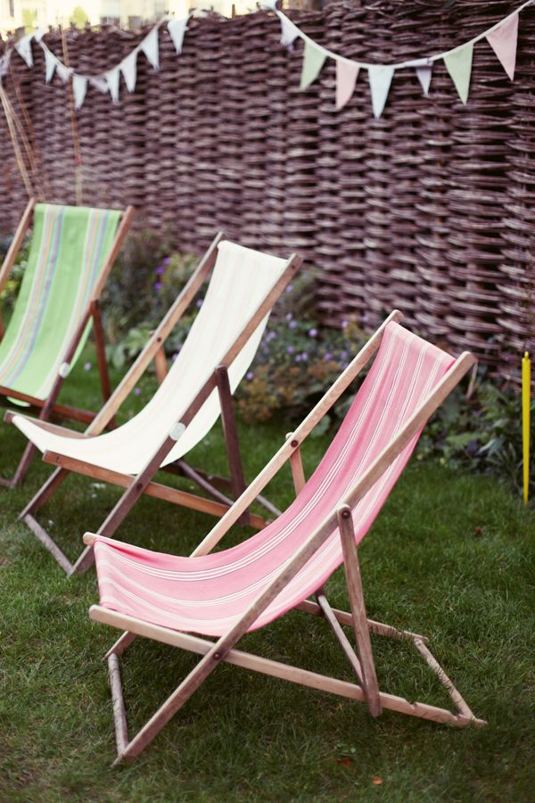 Deckchairs and bunting!