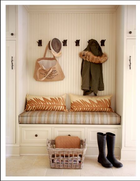Home DecorationDecor, Mudroom, Benches, House Ideas, Mud Rooms, Front Doors, Entryway, Nooks, Laundry Room