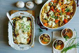 Ilustrační foto ke článku Zapečené těstoviny 3x jinak: S dýní, houbami i…