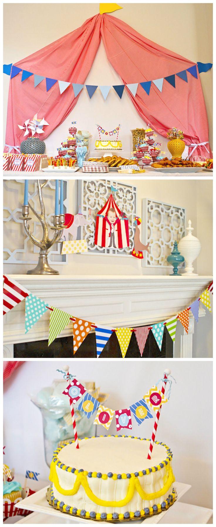 anniversaire enfant th me cirque party pinterest. Black Bedroom Furniture Sets. Home Design Ideas