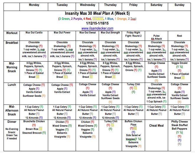 insanity calendar month 2 pdf