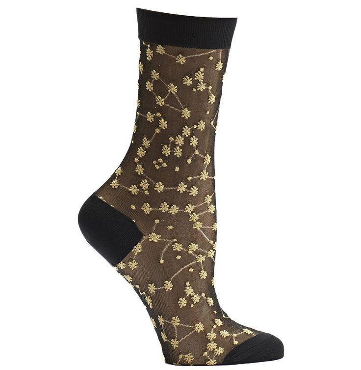 Ozone Women's Japanese Inspired Sheer Zodiac Over the Calf Socks, One Size