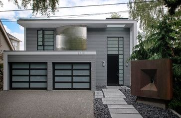 Painted Front Door Ideas Gray Siding