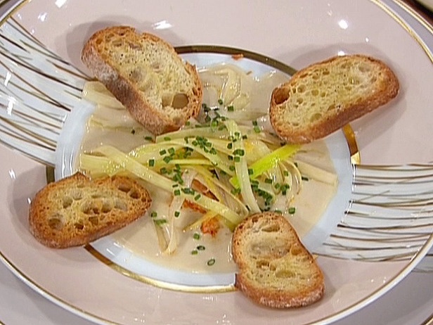 ... Vichyssoise with Lemon Poached Leeks and French Bread Croutons