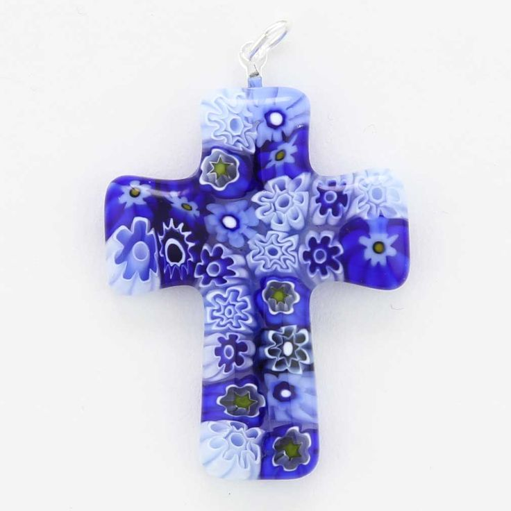 7 best murano glass watches images on pinterest murano glass blue murano millefiori cross pendant mozeypictures Images