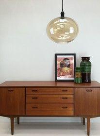 Elegant Glass Globe Pendant LARGE- Clear, Metallic or Amber - ESSENTIALS