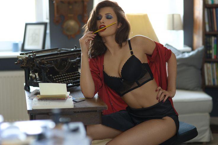 """The Secretary""  Makeup: Barbara Jonecko Model: Alexa Durance Photography & post: Olga Goralewicz"