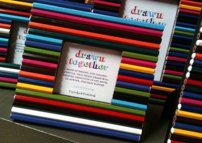 Un marco, hecho con lápices | Decoración 2.0