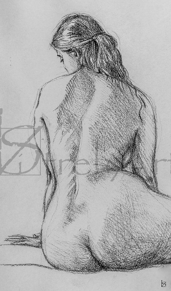 Female nude 4. Digital image of original charcoal by ArtViStrel