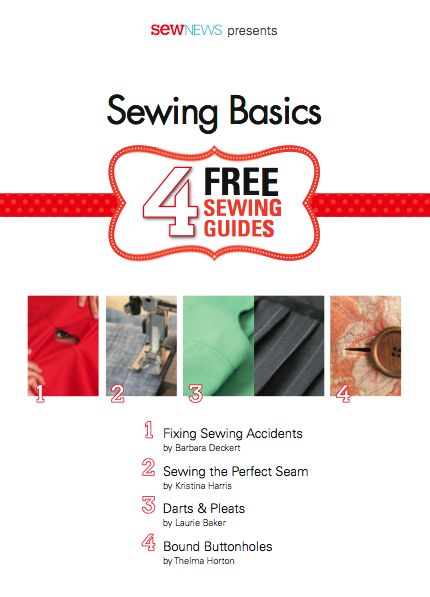 Free e-books from Sew News for Sewing Skills