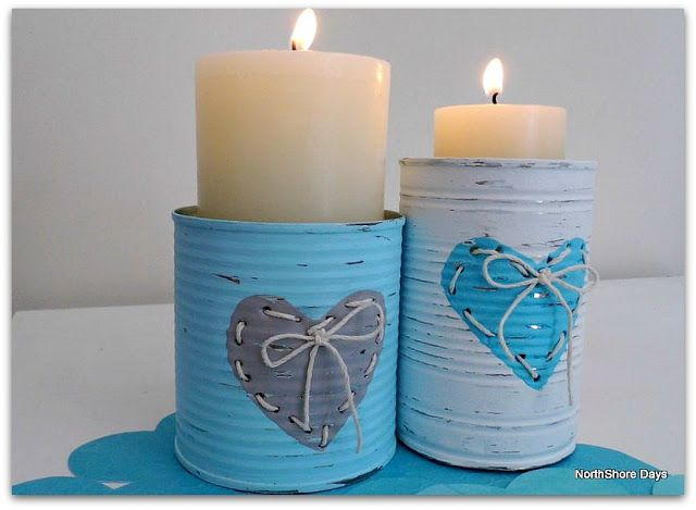 DIY:: Sweet Threaded Heart Tins