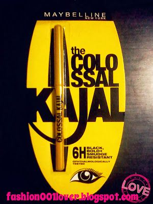 Review: Maybelline Colossal Kajal http://fashion001lover.blogspot.in/2013/10/review-maybelline-colossal-kajal.html