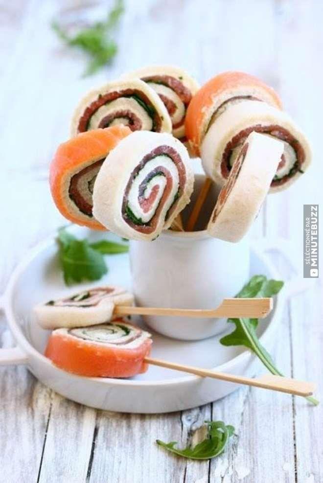 Parfait pour l'apéro : ces sucettes-sandwiches en pain de mie