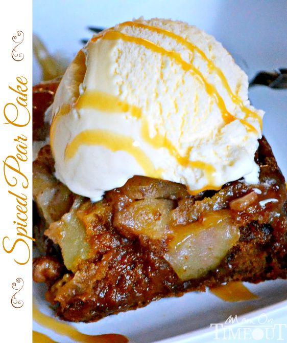 Spiced Pear Cake   MomOnTimeout.com
