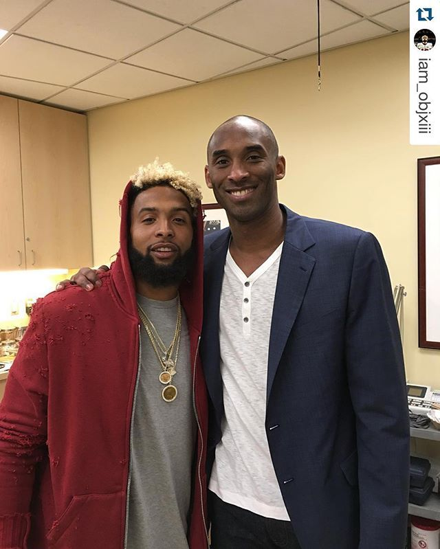Last night, Odell Beckham Jr. was on hand to check out the Mamba one last time. #Respect #LakersNation #Repost