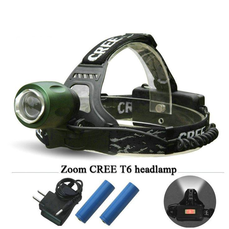 Camping Necessities Zoomable Cree Xm L T6 Headlamp Led Headlight Flashlight Head2800 Lumens 4 Mode Waterproof Portable Light Light Flashlight Headlamp Lantern