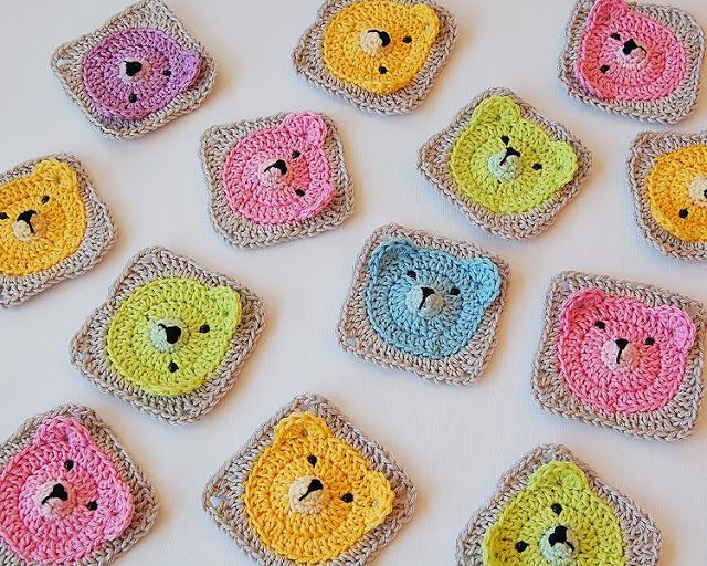 Dada's place: Teddy Bear Granny Square - eep so adorable!