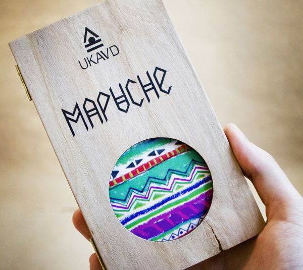 I even like the packaging for these Mapuche Indian phone cases by UKAVD