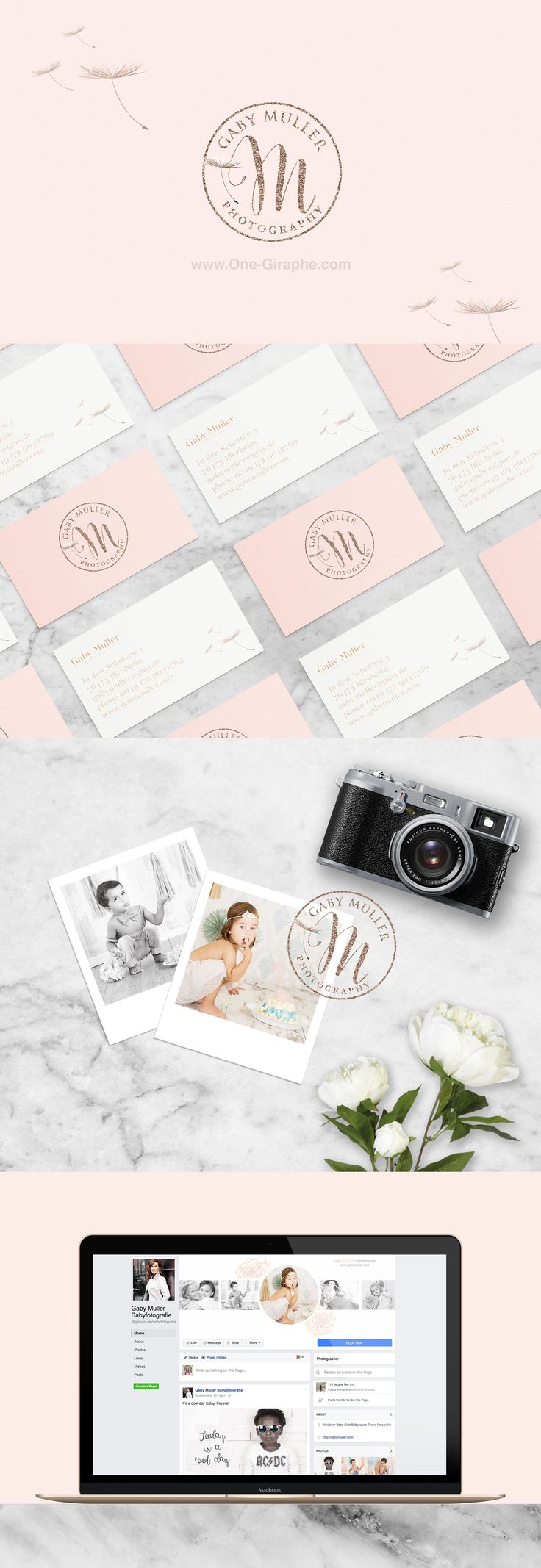 Gaby Muller Photography - Brand Identity  #brandidentity #logo #logodesign #photography #photographer #etsy #love #logos #designer #needlogo #stocklogo #behance #love #businesscard  http://one-giraphe.com/prev.php?c=203