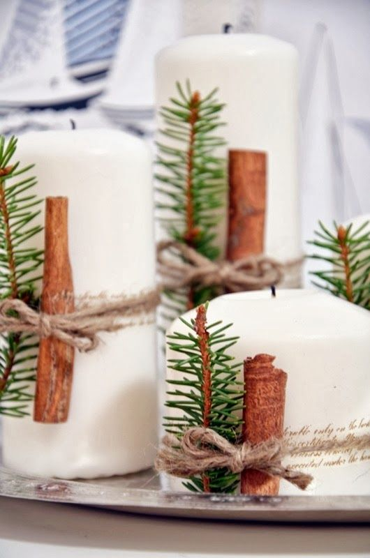 Jouluiset kynttilät