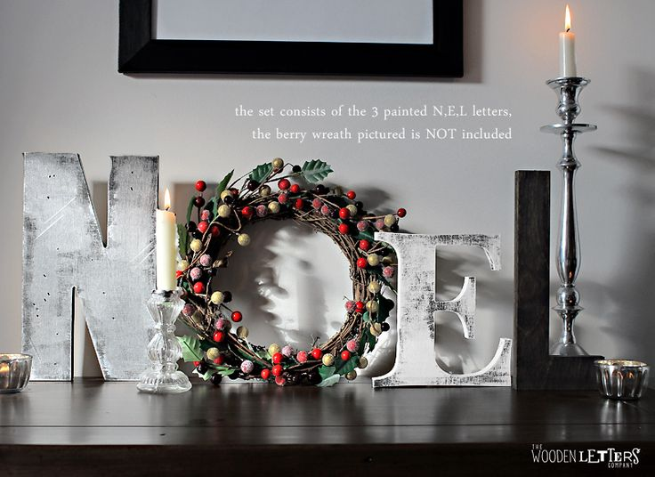 Christmas Centerpiece Letters : Best images about christmas wooden letters on pinterest