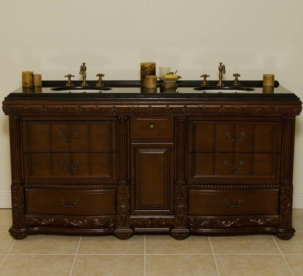 46 best double antique bathroom vanities images on - Discount double bathroom vanities ...