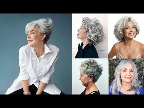Hairstyles for older women with medium, long and short hair ideas - YouTube