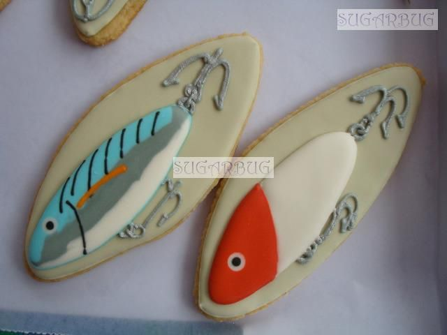 cute idea for fishing lure cookies