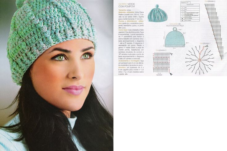 181 best Gorros images on Pinterest | Crochet hats, Crocheted hats ...