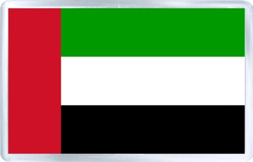 Acrylic Fridge Magnet: United Arab Emirates. Flag of United Arab Emirates