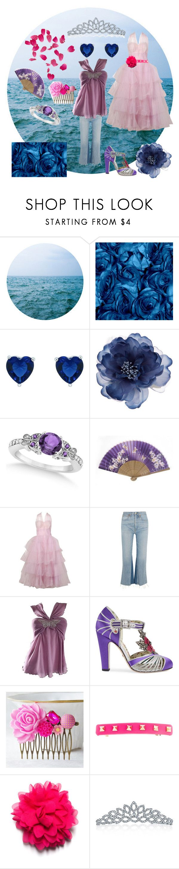 """""""Happy birthday!"""" by fandom-girl365790 ❤ liked on Polyvore featuring WALL, Accessorize, Allurez, RE/DONE, Alessandro Dell'Acqua, Gucci, Valentino and Bling Jewelry"""