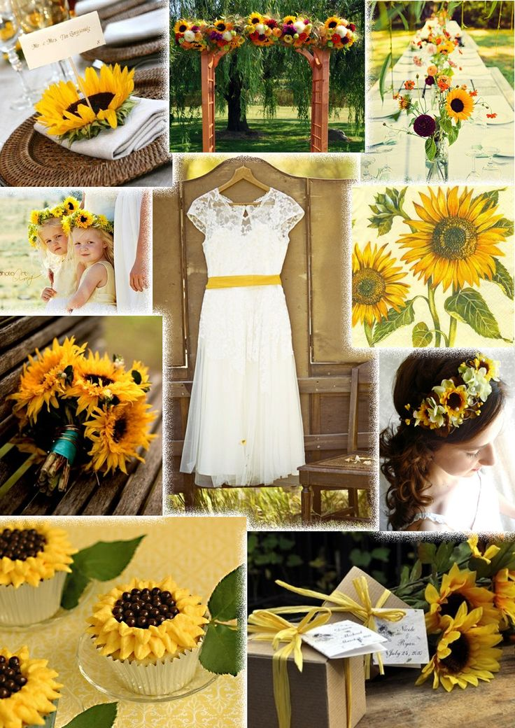 136 best sunflower wedding ideas images on pinterest sunflowers sunflower wedding junglespirit Image collections