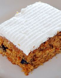 Carrot Cake with Mascarpone Topping
