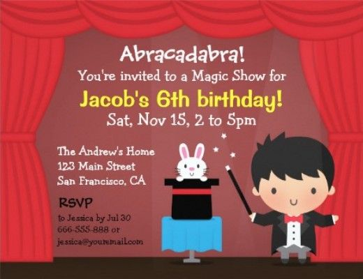 76 best kids party invitations images on pinterest kid adorable magic theme birthday party invitation for your childs next party you can customize these stopboris Image collections