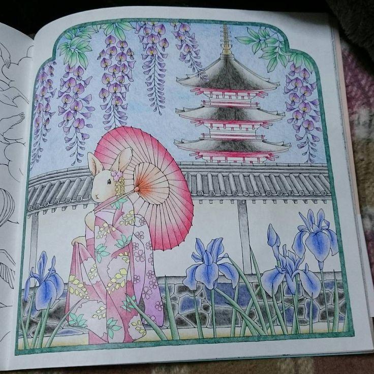 初投稿は幸せのメヌエットから。 使用色鉛筆:ホルベイン100色。 #大人の塗り絵 #coloringbook #coloriage #色鉛筆 #幸せのメヌエット #コロリアージュ