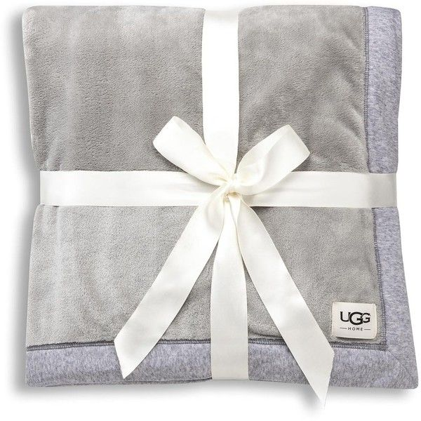 Ugg Duffield Throw Soft Throw Blanket featuring polyvore, home, bed & bath, bedding, blankets, seal heather, polyester throw, zen bedding, polyester blanket and ugg australia